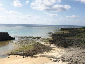 宿から見える太平洋